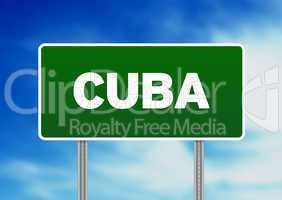 Cuba Highway Sign