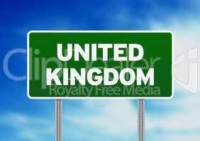 United Kingdom Highway  Sign
