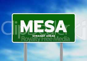 Mesa Highway Sign