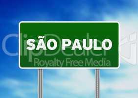 Sao Paulo Highway Sign