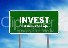 Invest Street Sign