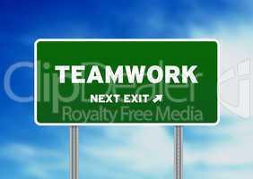 Teamwork Street Sign
