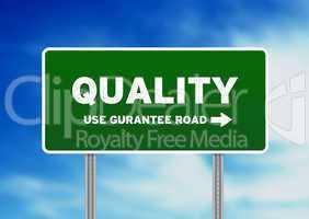 Quality Street Sign