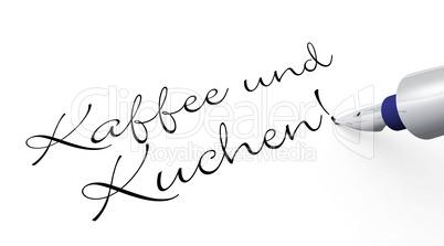 Kaffee Und Kuchen Stift Konzept Lizenzfreie Bilder Und Fotos