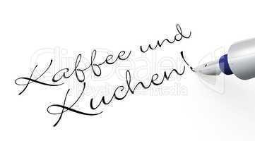 Kaffee und Kuchen! - Stift Konzept