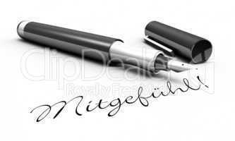 Mitgefühl - Stift Konzept