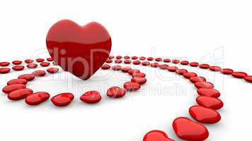 Im Kreis der Herzen - Rot Weiß