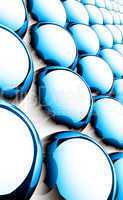 Matrix Balls Background - Blue Black White 01
