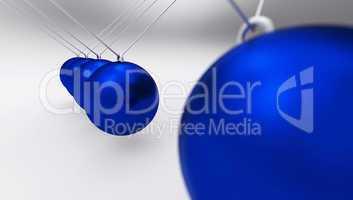 Newtonpendel Blau grau 01