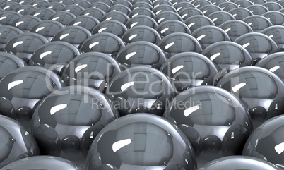 Silver reflection balls background