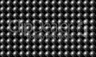 Silver Ball Grid Matrix Background