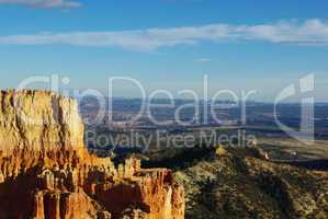 Partial view of Grand Stair Escalante National Monument from Bryce Canyon towers, Utah
