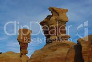 First light on Devils Garden formations, Grand Stair Escalante National Monument, Utah