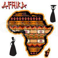 Africa traditional map