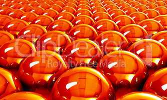 Hot reflection balls background