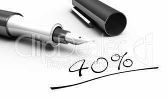 40% - Stift Konzept