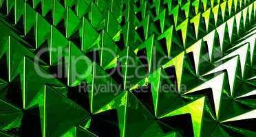 Hintergrund - Pyramiden Matrix Grün 3