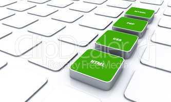 3D Pads Grün - HTML CSS PHP MYSQL 1