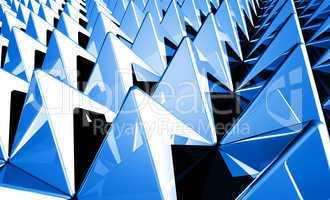 Hintergrund - Pyramiden Matrix Blau 1