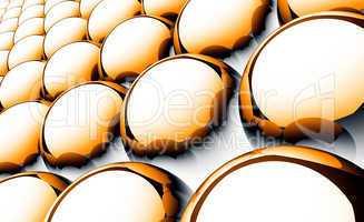 Matrix Balls Background - Orange Black White 01