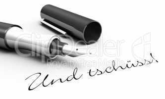 Und tschüss - Stift Konzept