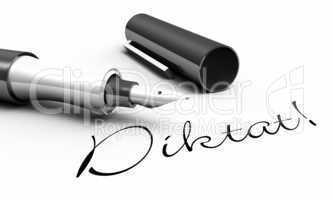 Diktat! - Stift Konzept