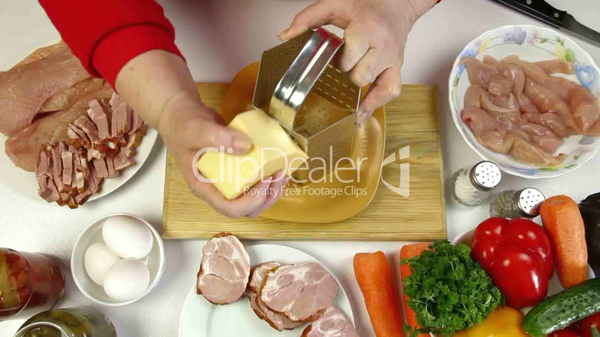 Food Preparation - Grating Cheese: Royalty-free video and ...