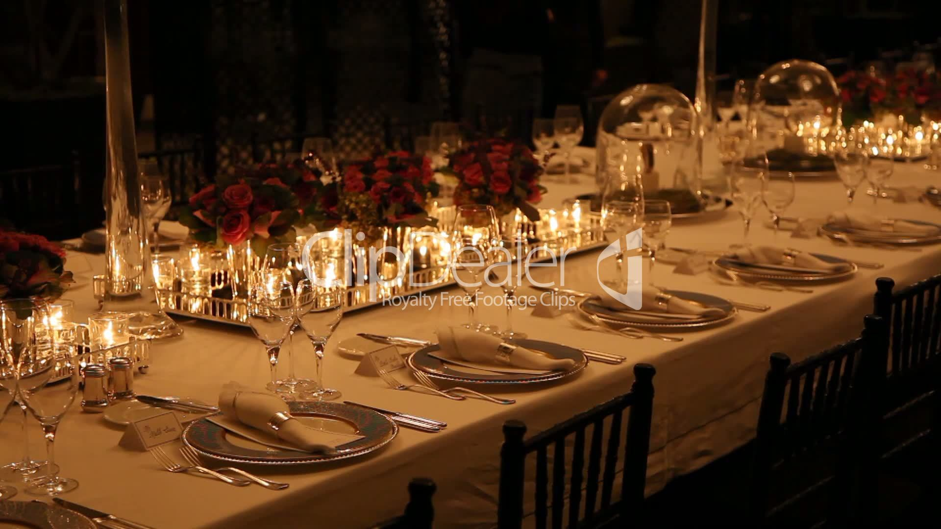 Elegant dinner table setting - Setting Silverware Table