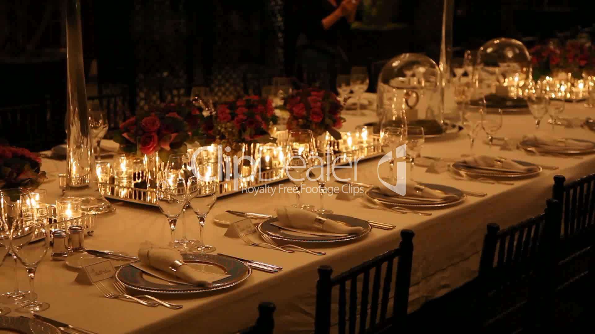 Elegant dinner table setting - Search Terms
