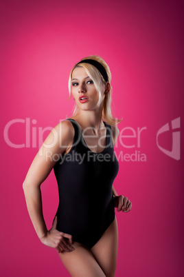 Beauty woman sport pin-up style portrait