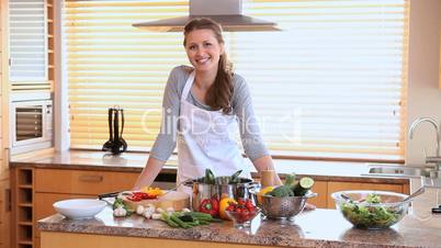 Frau in der Küche