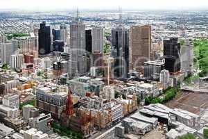 Bird's eye view of Melbourne city. Australia