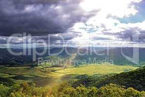 Beautiful mountains panorama