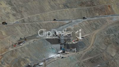 Kennecott Copper mine crusher dump industrial