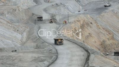 Kennecott Copper Mine trucks grader