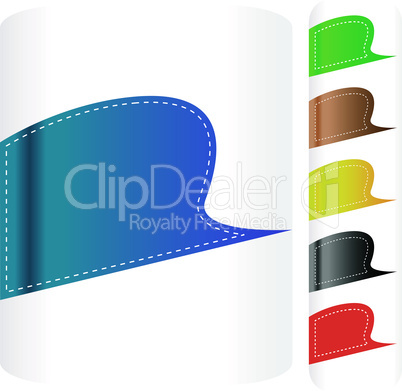 Multicolored stickers set. Vector label