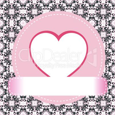 Valentine's day vector background heart