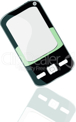 smart phone with reflection. vector digital smartphone