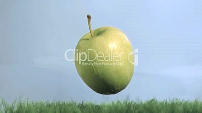 fallender Apfel