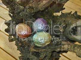 Hand painted walnuts shells