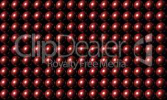 Red Ball Grid Matrix Background