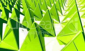 Hintergrund - Pyramiden Matrix Grün 2