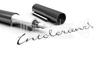 Intoleranz! - Stift Konzept