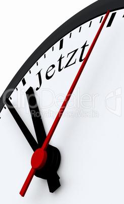 Uhr Konzept - Jetzt