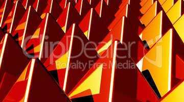 Hintergrund - Pyramiden Matrix Rot Gelb 1