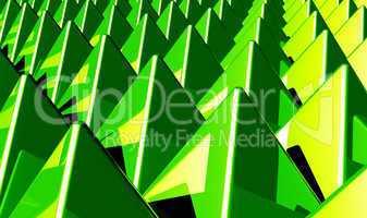 Hintergrund - Pyramiden Matrix Grün 1