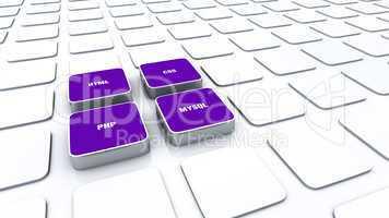 3D Pads Violett - HTML CSS PHP MYSQL 2