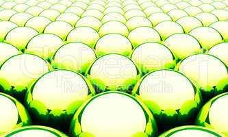 Magic Matrix Balls Background - Green