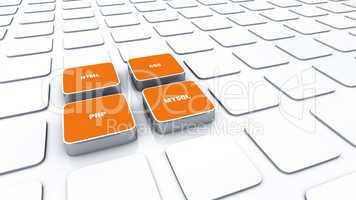3D Pads Orange - HTML CSS PHP MYSQL 2