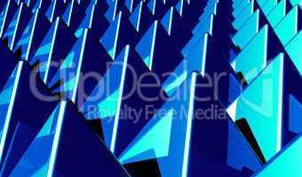 Hintergrund - Pyramiden Matrix Blau 2